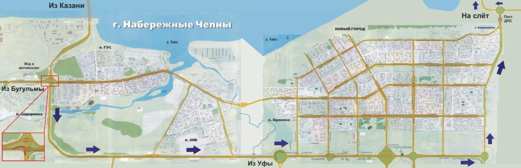 Карта проезда на слет