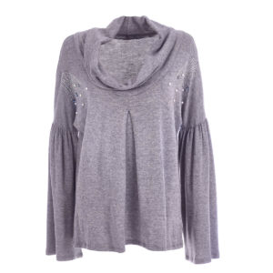 Ring neck sweater