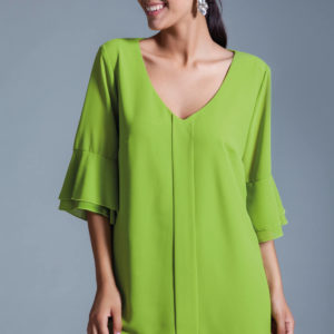 Voilant dubbed blouse sleeves