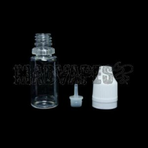 Empty Hard 10mL Bottle w/ Childproof Tamper Evident Cap