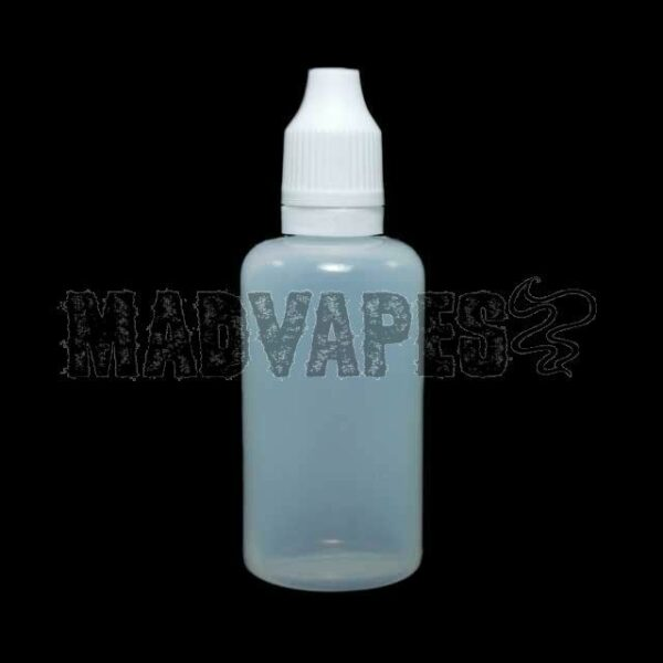 Empty Soft 50mL Bottle w/ Childproof Tamper Evident Cap