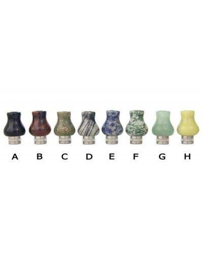 Stainless Steel and Jade Vase Dip Tip