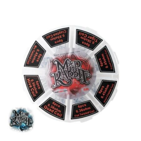 Mad Rabbit Pre-Made Coil Wheels, Kanthal, 48 Pack