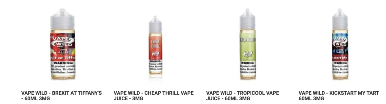 VapeWild Tropicool E-Liquids