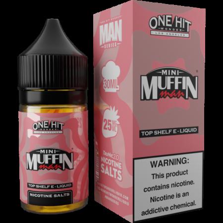 Mini Muffin Man Eliquid box and eliquid bottle