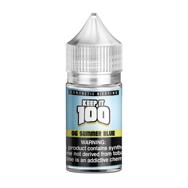 Keep it 100 Synthetic Salt - 30ml Bottle - OG Summer Blue