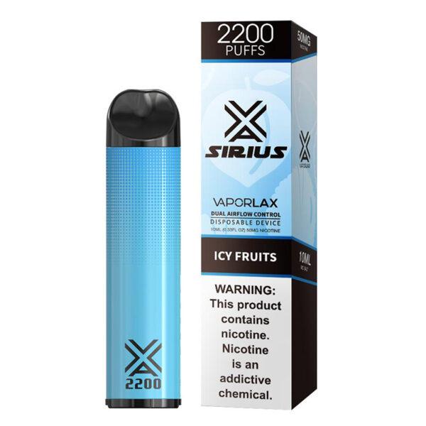 Vaporlax Sirius Disposable Vape - Icy Fruit Box