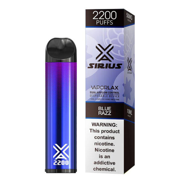 Vaporlax Sirius Disposable Vape - Blue Razz