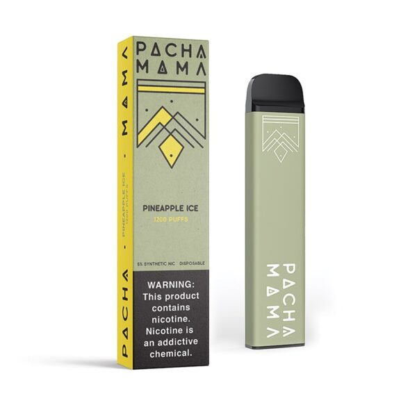 pachamama disposable - pineapple Ice   Mad Vapes