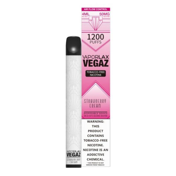 Vaporlax Vegaz Disposable Vape - Strawberry Cream