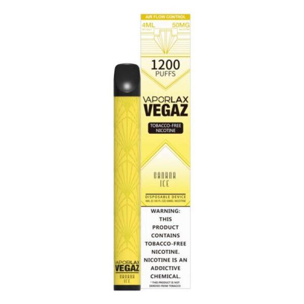 Vaporlax Vegaz Disposable Vape - Banana Ice