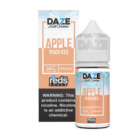 Reds Apple Synthetic Salt - Peach Iced - 30ml Box Bottle | Mad Vapes