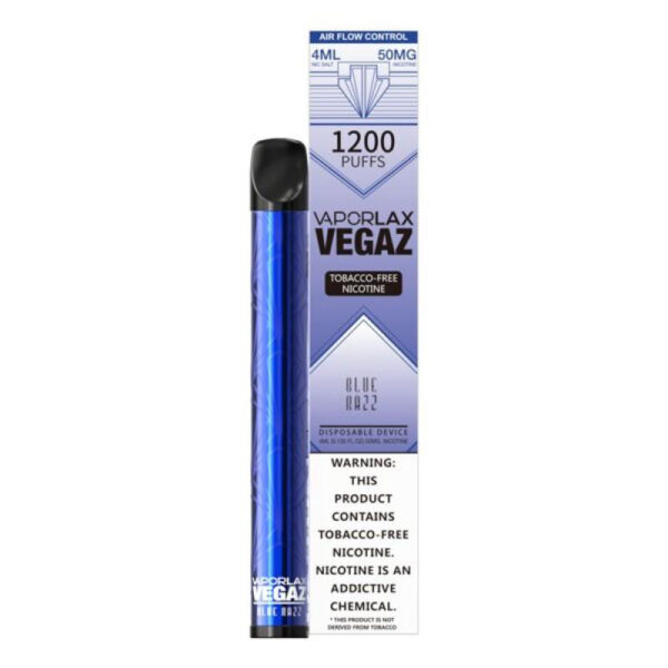 Vaporlax Vegaz Disposable Vape - Blue RAzz