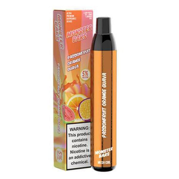 Monster Bars - Passionfruit Orange Guava   Mad Vapes