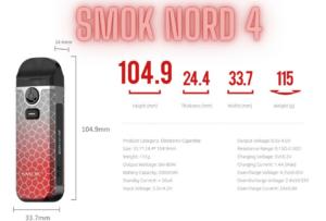 Smok Nord 4 Specs
