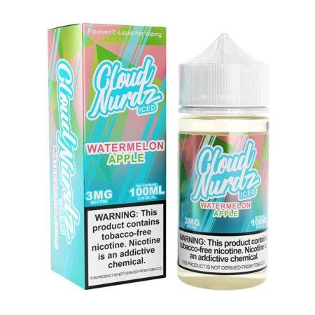 Cloud Nurdz TFN - 100ml Bottle - Watermelon Apple Iced