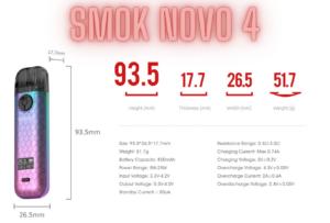Smok Novo 4 Specs
