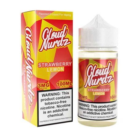 Cloud Nurdz TFN - 100ml Bottle - Strawberry Lemon