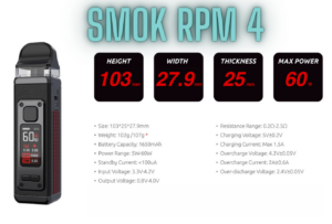 Smok RPM 4 Specifications