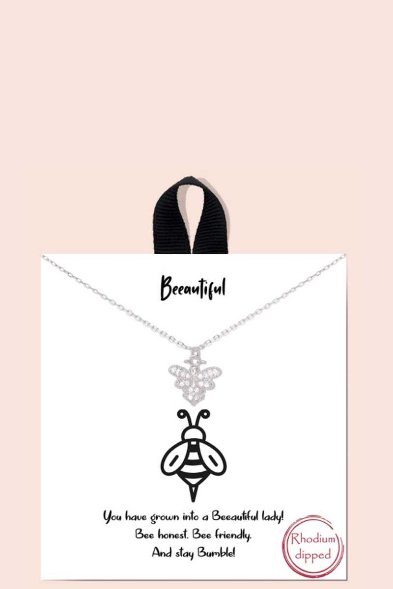 Beeautiful pendentif dainty message collier 53502. Vetements Fashions Femme, FRANCE