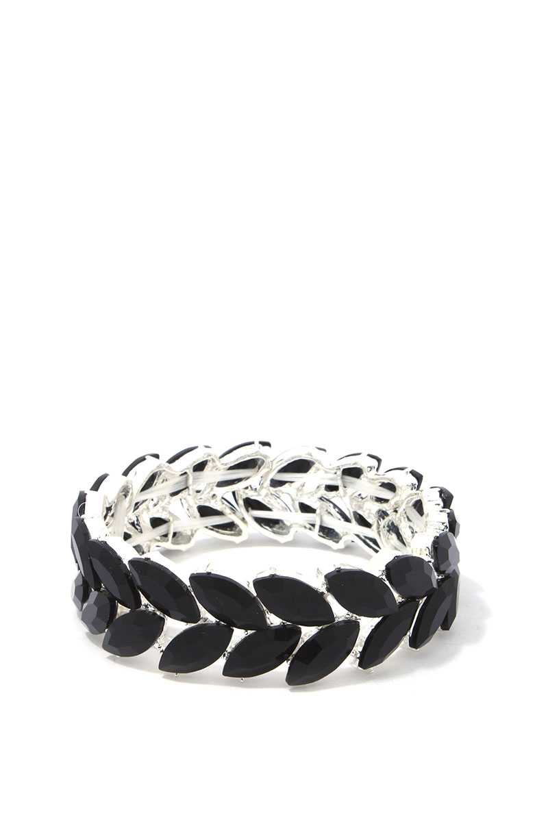 Bracelet extensible strass forme marquise 39174. Vetements Fashions Femme, FRANCE