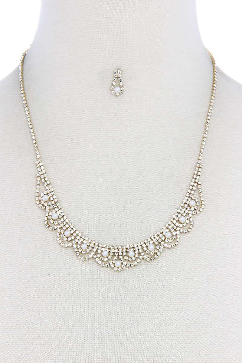 Collier strass 39147. Vetements Fashions Femme, FRANCE