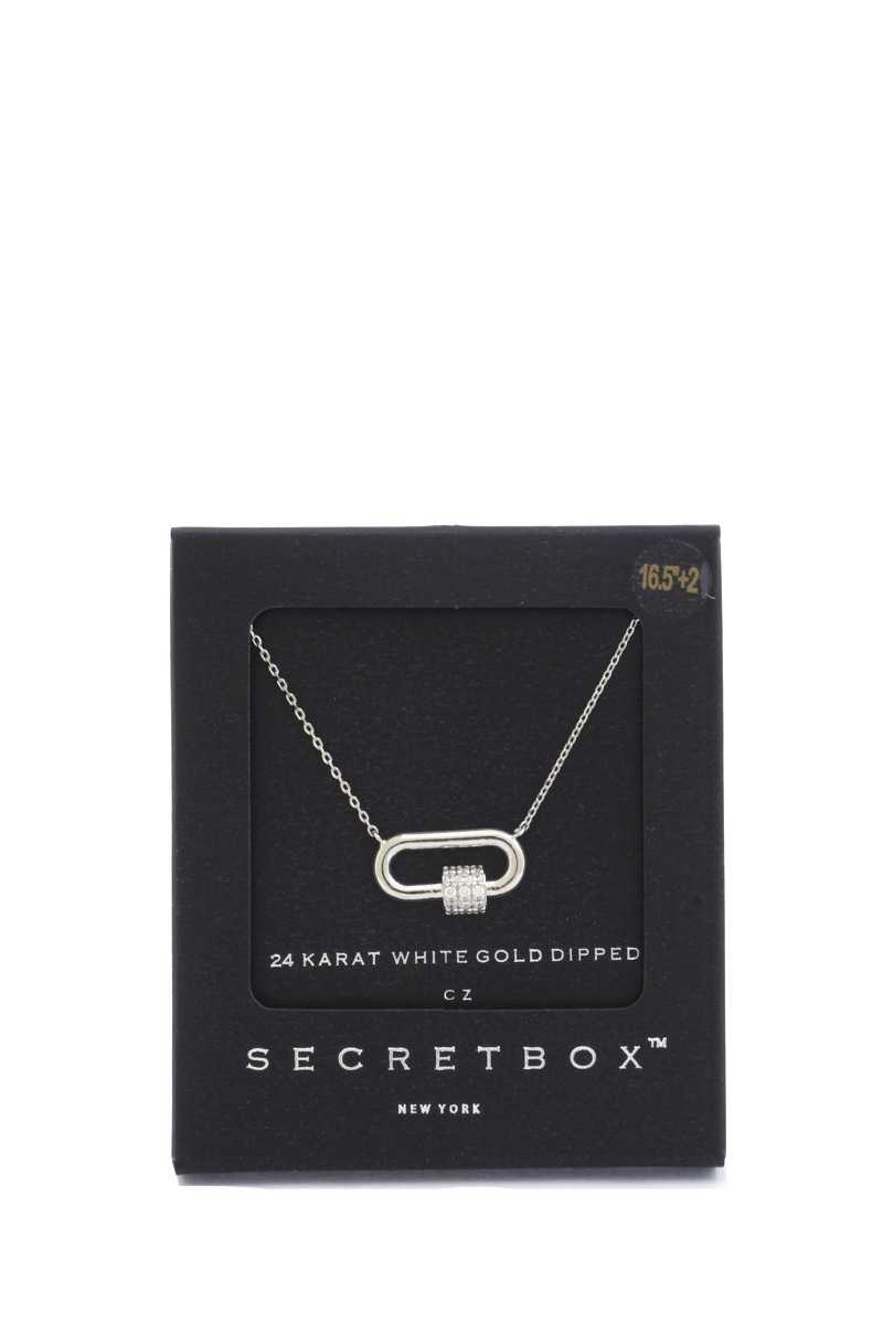 Secret box strass cube oval ring pendentif collier 53281. Vetements Fashions Femme, FRANCE