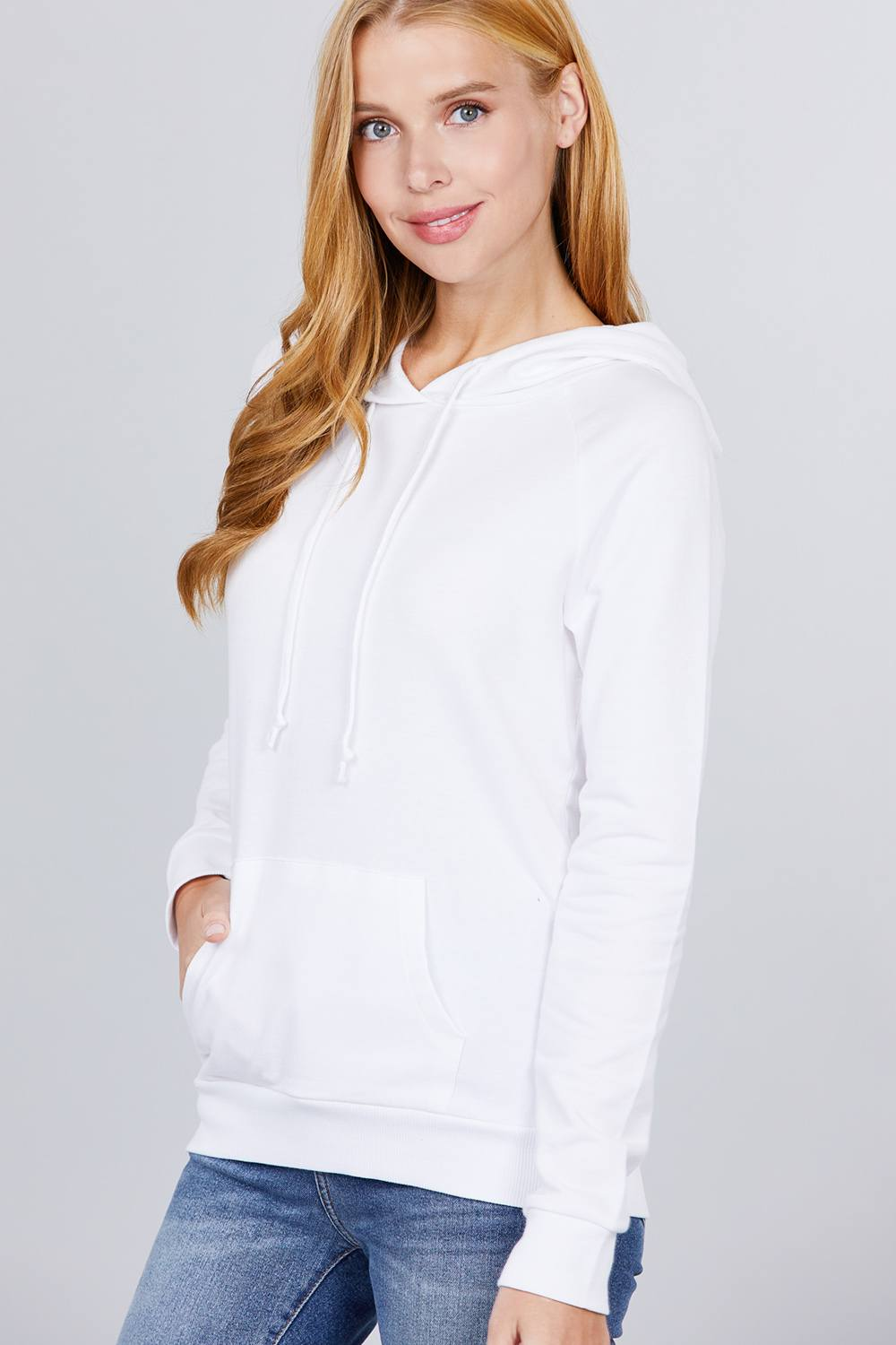 Sweat à capuche french terry pullover 53266k. Vetements Fashions Femme, FRANCE