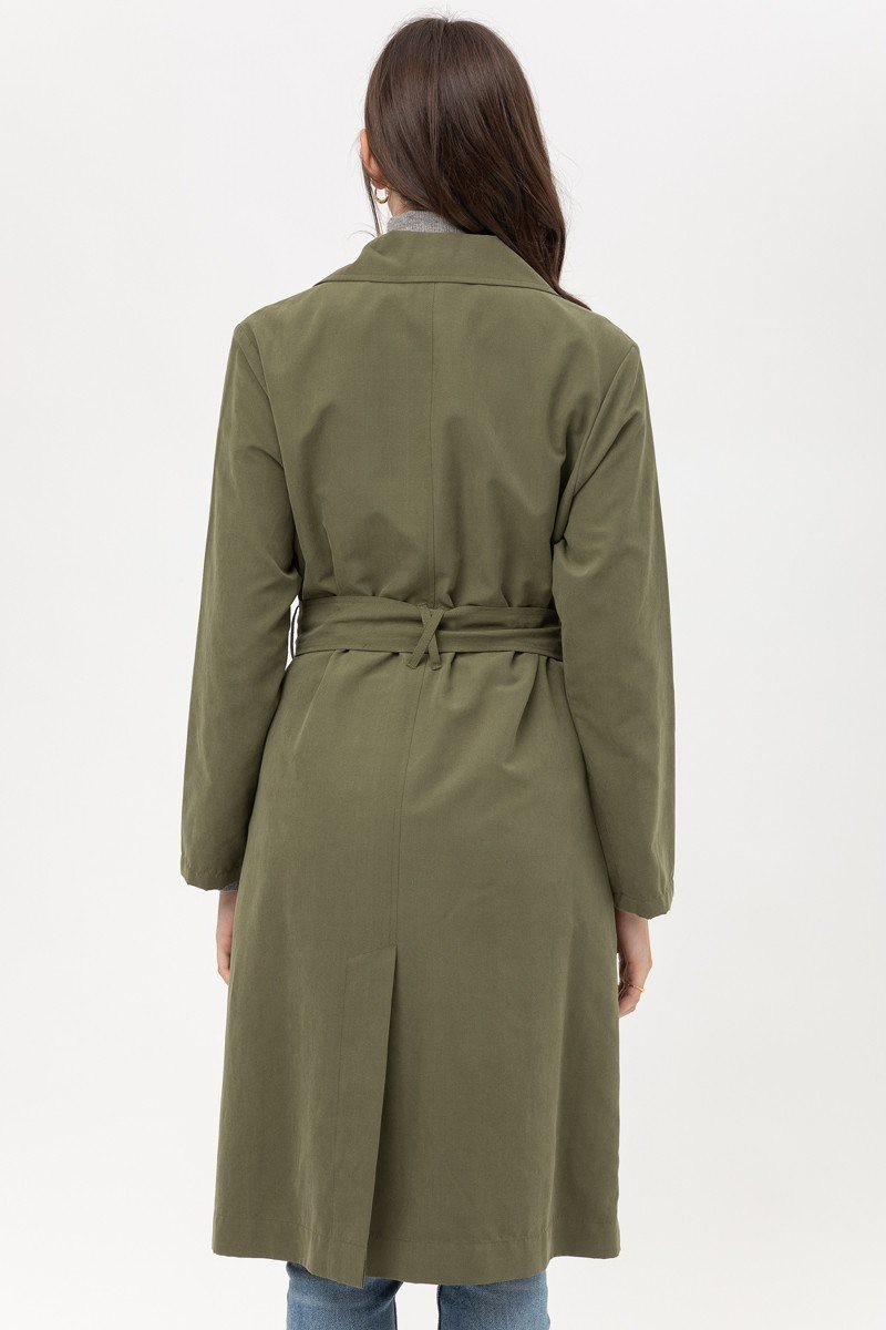 Trench coat à taille ficelle 53388. Vetements Fashions Femme, FRANCE