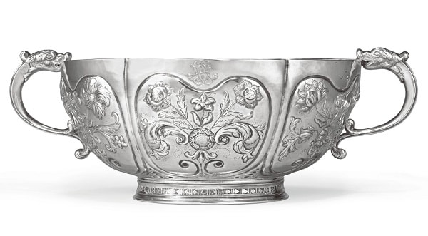 Antique American Punch Silver Bowl