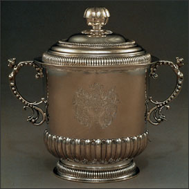 Early American Two-Handled Grace Cup and Cover