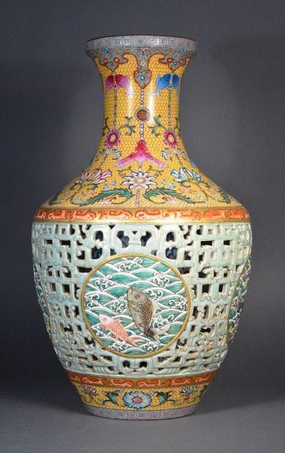 Pinner Qing Dynasty Vase