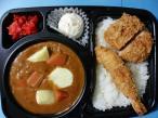 Fried shrimp & Hirekatsu curry