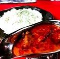 Baguette & garricchipbutter chicken curry