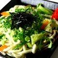 野菜焼きうどん「塩味」(いか・えび・豚・野菜)