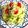 自家製ドレッシングのグリーンサラダ