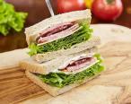 Bologna salami sandwich
