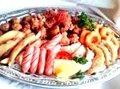 Fried chicken and sausage platter medium