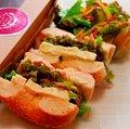 【サンド&サラダBOX】バジルチキン&クリームチーズ&トマト
