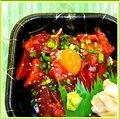 Bowl of rice with tuna yukke