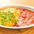 Fluffy tuna OM rise ripened tomato sauce.