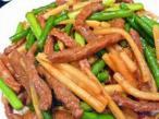 ニンニク芽と豚肉炒め