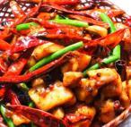 四川風鶏肉の唐辛し炒め