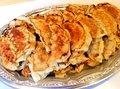 Homemade gyoza plate L
