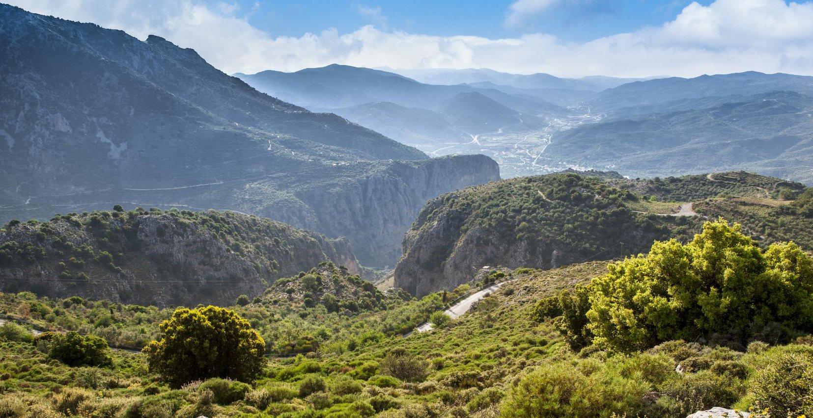 The beautiful mountains of Males near Mala Villa