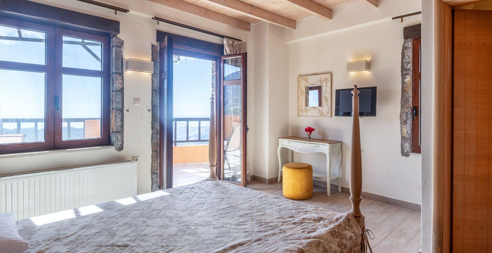 The interior of the maisonette of Mala Villa in Crete