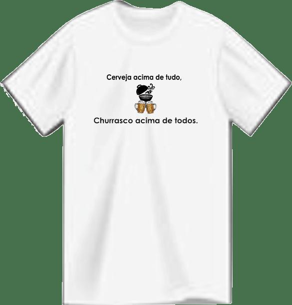 Camiseta Root Brewers – Cerveja e Churrasco Poliéster.