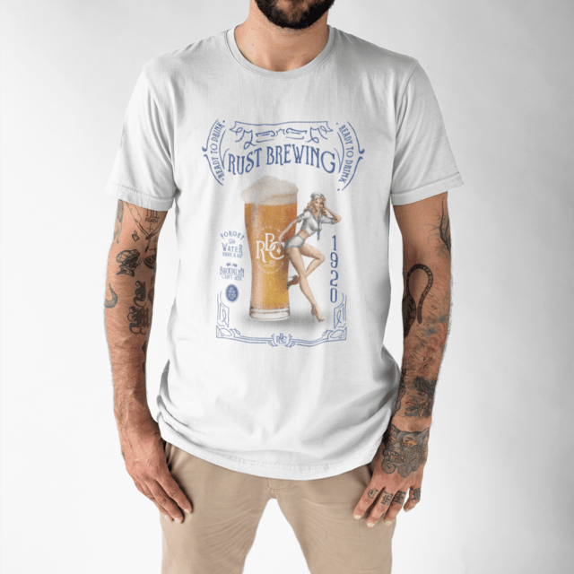 Camiseta RUST Brewing White