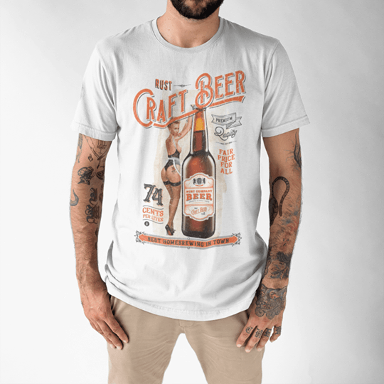 Camiseta RUST Craft Beer White