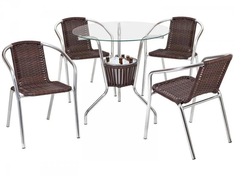 Conjunto Mesa com Balde e 4 Cadeiras Md 02